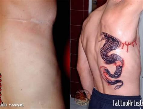 12 Coolest Tattoos Covering Scars - tattoos over scars