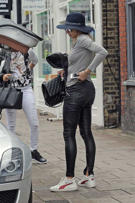 Lilly Becker seen while out shopping - Leather Celebrities